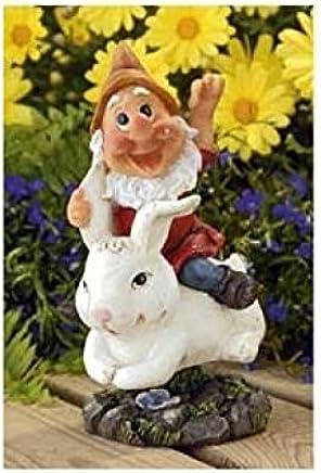 23cm Wobbling Garden Gnome Summer Fun Garden Ornament Patio Resin Gnomes