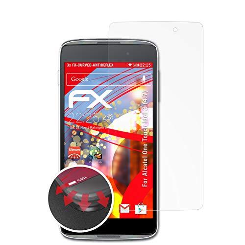 atFolix Schutzfolie kompatibel mit Alcatel One Touch Idol 3 (4.7) Folie, entspiegelnde & Flexible FX Bildschirmschutzfolie (3X)