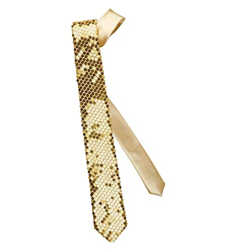 Pailetten Krawatte gold - Krawattenschleife