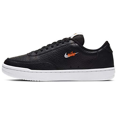 Nike Court Vintage Premium Casual Zapatos para mujer, Negro (Negro/Blanco-Naranja Total), 42.5 EU