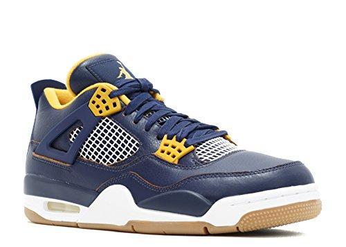 Nike Air Jordan 4 Retro, Zapatillas de Deporte para Hombre, Multicolor (Mid Nvy/Mtllc Gld-Gld Lf-White-), 41 EU