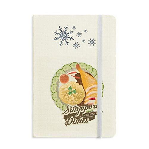 Cuaderno de Arroz de Pollo Hainanese Singapur Grueso Diario Copos de Nieve...