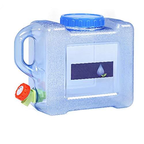 Demarkt Wasserkanister mit Hahn 5L 8L 15L Camping mit Griff Tragbarer Wasserbehälter mit Deckel Zapfen Kunststoff Auto Wassertank Wasserspeicher Quartett