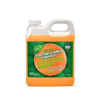 Safe 'n Easy Citrus Paint & Varnish Remover Gel Strips 15+ Layers of Paint Safely No Hazardous Fumes Non-Toxic Citrus Orange Scent  32 oz