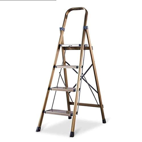 Vier stappen Aluminium Ladder, Multifunctionele Techniek Ladder waterdicht en corrosie Ladder maximale hoogte van Leuning: 42cm (Maat: 44,5 * 76 * 135cm) XIUYU (Size : 44.5 * 76 * 135cm)