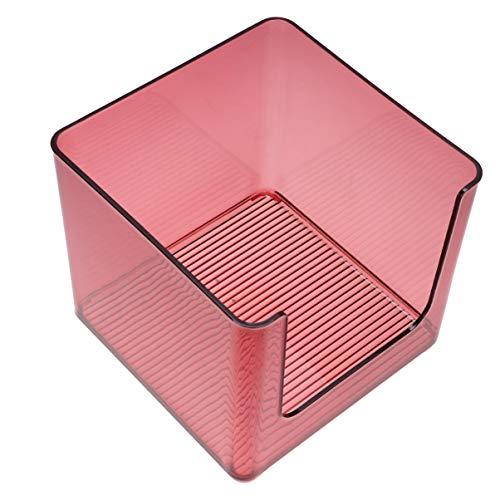 Hemoton Kunststoff Make Up Organizer Box Kosmetik Organizer Behälter für Schminktisch Waschtisch Arbeitsplatte Badezimmerschrank (Dunkelrot)