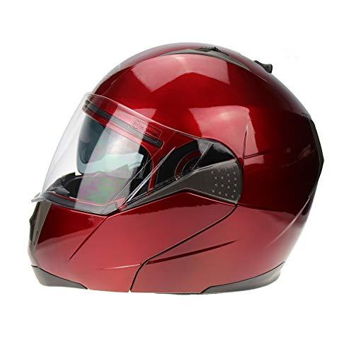 3GO 115 MODULARES MOTOCICLETA TURISMO DVS ECE ACU BURGANDY CASCO L 59-60 CM
