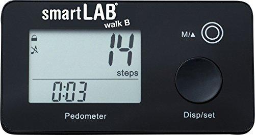 smartLAB walk B 3D-Schrittzähler - Bluetooth Kalorien-Zähler zur genauen Schritt-Messung - Pedometer mit 35 Tage Speicherung
