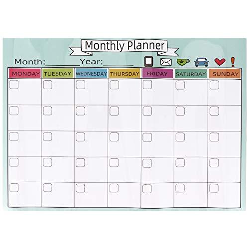 1 st Raderbart Memo Board Användbart planeringsverktyg Magnetiskt månatligt plankort