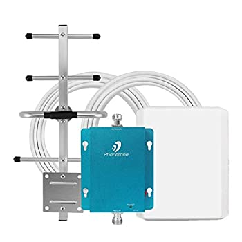 Cell Phone Signal Booster for Home and Office - 850MHz Band 5 GSM 3G Cellular Repeater with Directional Panel/Yagi Antennas - Boost Voice Text Up to 4,500 Sq Ft Area