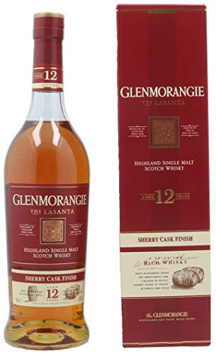 Glenmorangie Lasanta Sherry Cask Finish Single Malt Whisky mit Geschenkverpackung (1 x 0.7 l)