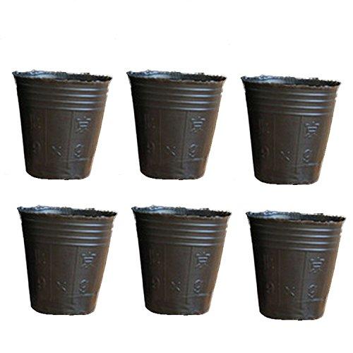 Plateau de semences de pots de fleurs en plastique jetables en plastique 200pcs parfait pour les plantes de jardinage intérieur extérieur 3.94 x 3.74 pouces