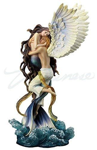 Unicorn ¿Puede el Amor y los Amantes del ángel Estatua de una Sirena por el Artista Selina Fenech