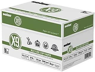 $54 » Boise(R) X-9(R) Paper, 8 1/2in. x 11in, 20 Lb, Bright White, 500 Sheets Per Ream, Case of 10 Reams, OX9001-CTN