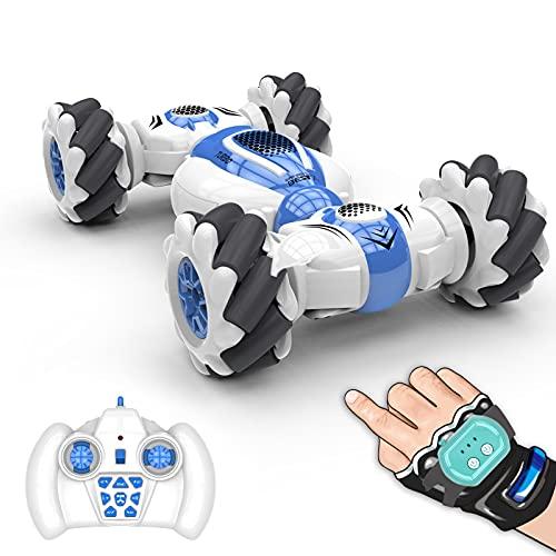 Zwbfu S-012 RC Stunt Car Controle Remoto Relógio Sensor de Gesto Deformável Carros Elétricos de Brinquedo Velocde Todo o Terreno 2,4 GHz 4WD 360 ° Rotação Whirligig Presente