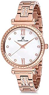 Daniel Klein Womens Quartz Watch, Analog Display and Stainless Steel Strap DK12189-2