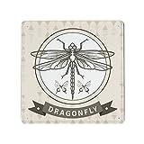 Libellen-Druck-Symbol-Poster, Metall-Blechschild,