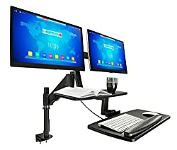 Mount-It! Sit Stand Desk Mount 2 Monitors