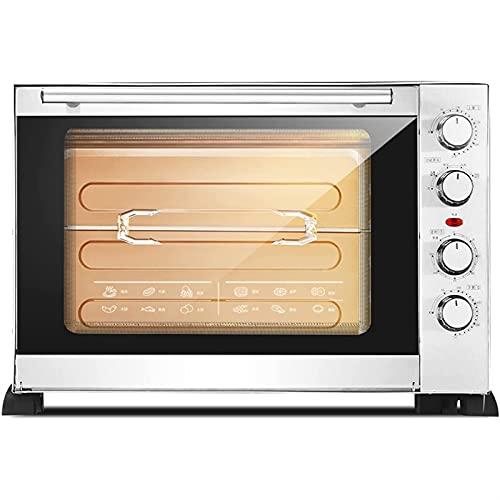 ZLQBHJ Horno eléctrico Multifuncional 60L, Cocina doméstica Mini tostadora Horno para Pastel...