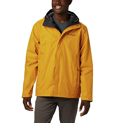 Columbia Men's Watertight II Waterproof Jacket, Golden Yellow, Small