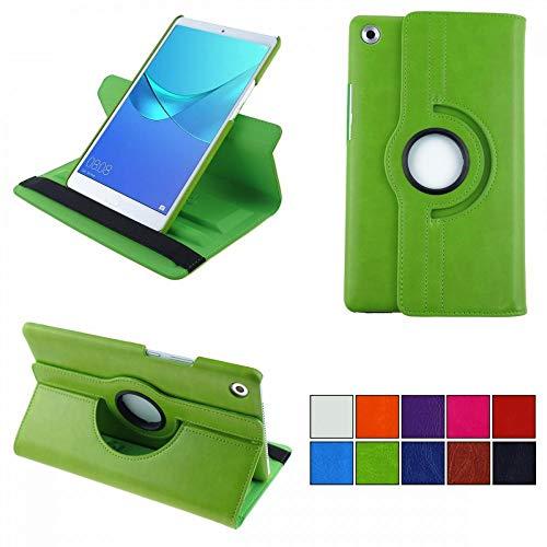 COOVY® 2.0 Cover für Huawei MediaPad M5 8.4 Rotation 360° Smart Hülle Tasche Etui Hülle Schutz Ständer Auto Sleep/Wake up | grün