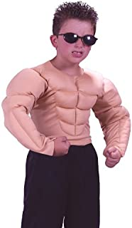 Boys Bodybuilder Muscle Shirt Kids Halloween Costume