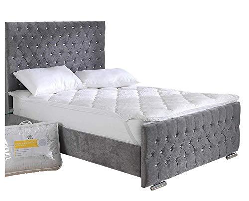 Matratzenauflage, überragender Temperaturausgleich, Klimatisierung mit SpringcellTM-Technologie, Originalprodukt der Sleep Company, weiß, Einzelbett