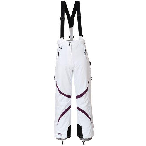 Cox Swain Damen 2-Lagen Snowboard-/ Skihose Jacy mit RECCO Lawinenreflektor 15.000mm Wassersäule!, Colour: White/Berry, Size: XL