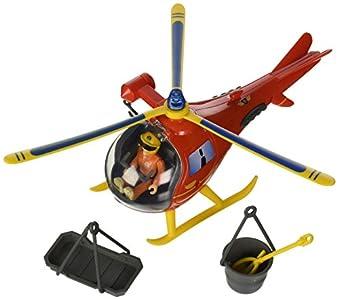 Sam el bombero - Wallaby, helicóptero con Figura y Accesorios, Color Rojo y Amarillo (Simba 9251661)