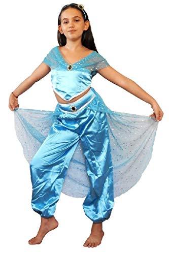 Disfraz de princesa jazmín odalisque para niño talla 110 2/3 años cosplay