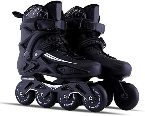 TAIDENG Patines para exteriores y adultos, negros, profesionales, cómodos patines de carreras para mujeres y jóvenes, color: negro, tamaño: 44 EU/11 US/10 UK/27 cm JP)