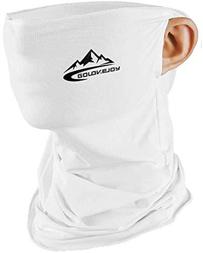 Máscara de cuello a prueba de polvo, protector solar, transpirable, bandana para cuello, protección UV, para correr, ciclismo, pesca, Blanco, Talla única
