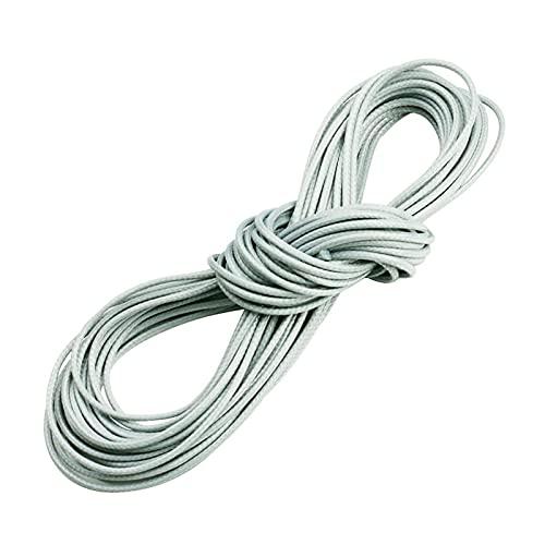 Cordón de cuero y cordones 10 metros / lote 15 colores 1 mm cuerda de cera cuerda cuerda cuerdas de algodón accesorios para el collar de bricolaje pulsera de la pulsera Materiales de marcado de joyerí