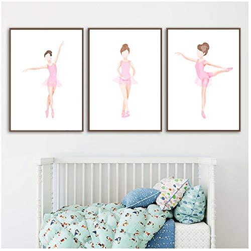 HD Drucke Bilder Home Wandkunst Ballett Mädchen Poster Modulare Malerei Auf Leinwand Kunstwerk Wohnzimmer Dekoration-50x70 cm Kein Rahmen