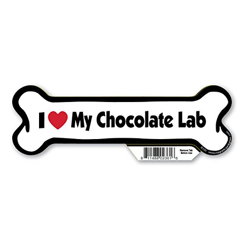 I (heart)Love my Chocolate Lab Bone Magnet -  Pet Gifts USA, B535