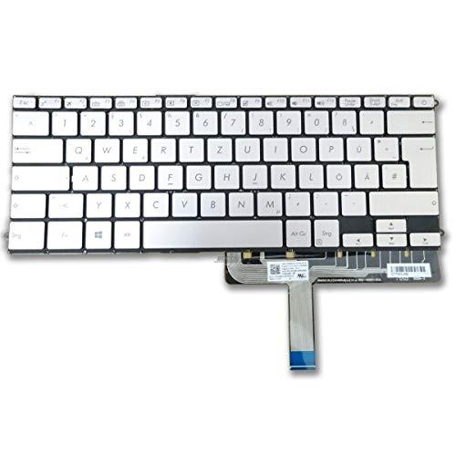 Bucom ASUS ZenBook 3 Deluxe - Teclado UX490 UX490CA UX490UA Plateado con luz Trasera