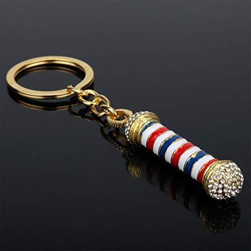 WANGXN Barber Shop Teken Sleutelhangers Auto Ornamenten Leuke Handtas Vrouwen Mannen Verjaardagscadeau (Gouden)