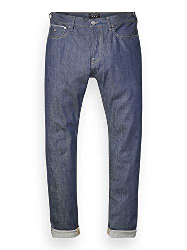 Scotch & Soda Herren Straight Jeans Nos Lot 22 Dean, Blau (Raw Italian Selvedge 1A), W36/L34