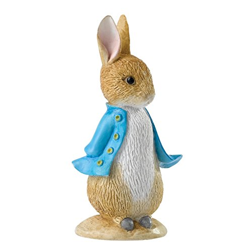 Beatrix Potter A28293 Peter Rabbit Mini Figurine, Resin, mehrfarbig, 2.5 x 3.5 x 7 cm