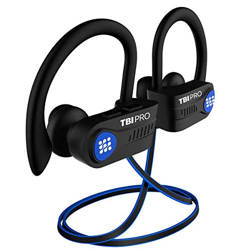 Latest 2020 Bluetooth 5.0 Headphones w/12+ Hours  QCC3003 Chipset - Sport Lightweight Wireless Earphones w/Noise Cancelling Mic - Bass, IPX7 Waterproof in-Ear Earbuds for Gym, Running, Workout