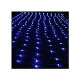 E-db LED Lichternetz 3M x 2M 200 LED Lichterkette Nachtlicht/Weihnachtsdekorationlichter/Weihnachten Hochzeit Vorhang Lichterkette Seile/Garten/Hotel/Festival/Dekoration Stimmungs (Blau)