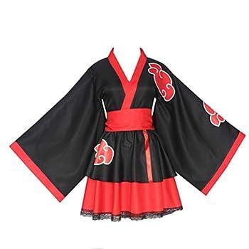 Akatsuki Uchiha Itachi Lolita Dresses Kimono Women Dress Anime Cosplay Costume Girl Fashion Dress  Small Adult