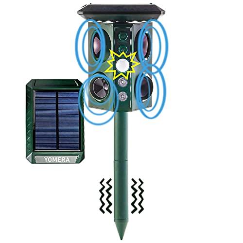 Ultraschall Katzenschreck für Garten, Solar Tiervertreiber, Ultraschallvertreiber, Ultraschallabwehr, Katzenabwehr, Hundeschreck, Marderschreck,...