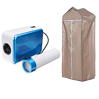 AIPZDJ Concise Home Electric Clothes Dryer 800W Energy Efficient Household Portable Dryer Warm Blanket Drying Shoes Pet Hair Dryer,Blue