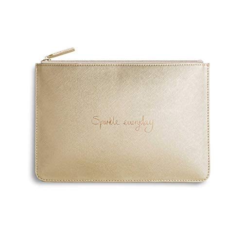 Katie Loxton Sparkle Everyday Women's Medium Vegan Leather Clutch Perfect Pouch Metallic Gold