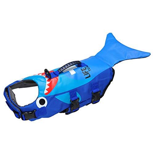 SONGWAY Schwimmweste für Hunde, Größe verstellbar, mit Griff für Schwimmen, Bootfahren, Jagd (L)