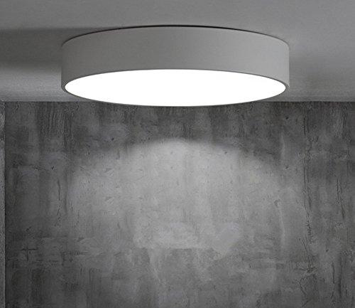 Nordique LED Salon Plafonnier Moderne Minimaliste Chambre Lampe Étude Restaurant Couloir Allée Ronde Lumière , white , 40*40cm