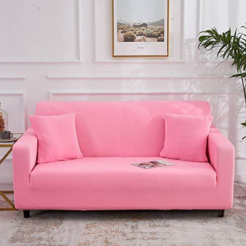 Qier Sofabezug Stretch Slipcover Möbelschutz, Universal Armchair Kissen Sofa, Spandex Elastic Chaise Corner Cover, Einfarbig, Pink, 1-Sitzer 35,55 Zoll