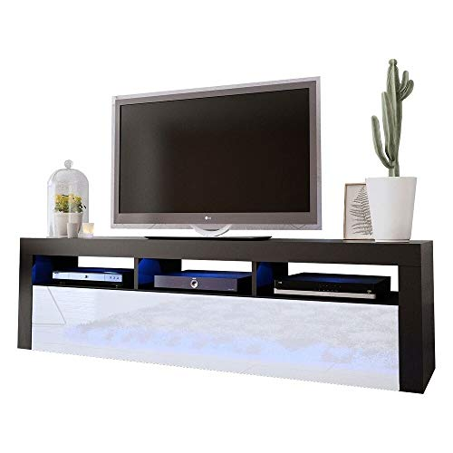 Meble Furniture & Rugs Milano Classic Wall Mounted Floating 63' TV Stand with 16...