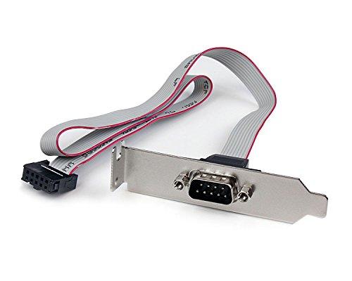 StarTech.com 1 Port Seriell DB9 Slotblech mit 10 Pin Pinheader Kabel 40cm, Low Profile